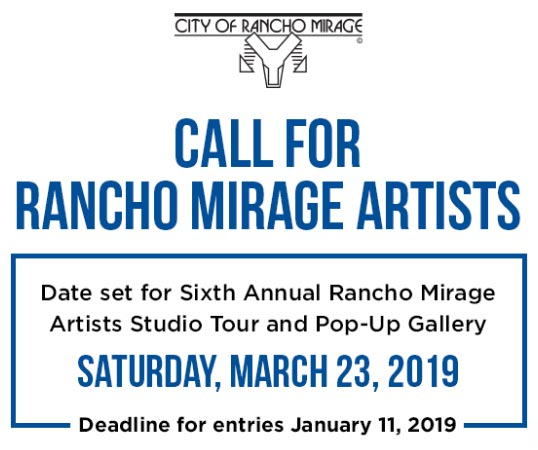 call for rancho mirage artists